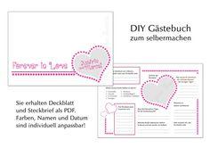 """Ihr individuelles """"Steckbrief"""" Gästebuch ... ... für die Hochzeit, Taufe oder Kommunion  Wer kennt es nicht, das altbewährte Freundschaftsbuch aus Schulzeiten?  Dieses Gästebuch ist kein..."""
