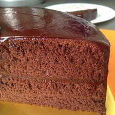 Chocolate Sponge cake (cooked dough method)