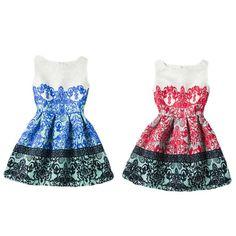 Girls Princess Dresses Formal Party Clothes Little Girls Print Floral Dress For Teen Girl Dress  #popular #vintage #xl #hot #comfortable #colors #black #amari #xxxl #women
