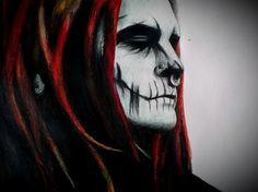 Devin Ghost Sola, colored pencil
