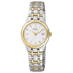 For my mother- Citizen Watch, Women's Eco-Drive Two Tone Stainless Steel Bracelet - All Watches - Jewelry & Watches - Macy's Sport Watches, Watches For Men, Citizen Watches, Wrist Watches, Citizen Eco Drive Ladies, Discount Watches, Watch Model, Seiko Watches, Skagen