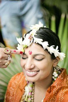 Colorful Outdoor Indian Wedding in Hawaii on Borrowed & Blue.  Photo Credit: Creatrix Photography