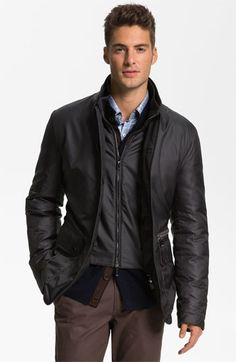 Canali Weather Resistant Feather Jacket available at #Nordstrom