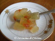 Confettura di scorza di anguria alla cannella - Dulceata de coji de pepene rosu cu scortisoara - Wattermelon rind confetture with cinnamon
