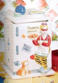 Fridge and cat lady  Cookie Jar