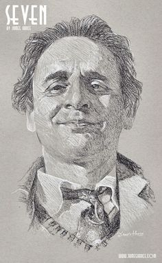 'Seven' (Doctor Who - Charcoal) Presenting your Seventh Doctor - the fantastic Sylvester McCoy! - by James Hance