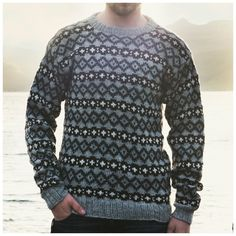 Navia herresweater med mønster Knitting Patterns, Men Sweater, Pullover, Fair Isles, Boys, Sweaters, Knits, Clothes, Knit Patterns