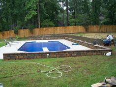 Landscape Design and Installation, Sod, Retaining Walls, Stamped and Colored Concrete, French Drains, Erosion Control and Hydroseeding #CarolinaGrounds #landscaping #planting #concrete #mulch #design #decorative
