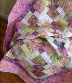 Magnificent Purples - a beautiful quilt pattern designed and donated to the Fresh Hope organisation by Carole McLennan. This pattern would grace any bedroom......    Finished Quilt Size: 132 cm (52) x 164cm (641/2)    Fresh Hope Patterns is a unique concept, supported enthusiastically by