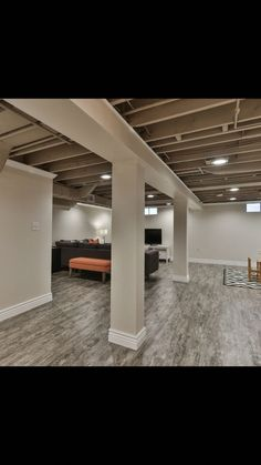 Unfinished Basement Ideas – Lots of home owners integrate a basement to their house. However, the basement is often designed ineffectively, reducing its functional value. Many of home owners do not … Read More - Framing Basement Walls, Finishing Basement Walls, Low Ceiling Basement, Basement House, Basement Plans, Basement Bedrooms, Unfinished Basement Ceiling, Industrial Basement, Rustic Basement