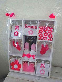 Een letterbak als kraamcadeau. Kijk eens op http://www.knutselforum.com/kraamcadeau-letterbak-t145.html