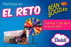 Mañana en Duldi Barcelona nos visitan los amigos de Jelly Belly y podremos jugar con ellos al #RetoBeanBoozled. Os esperamos el viernes 1 de abril a partir de las 16:30h para girar la ruleta. ¿Te atreves a jugar?