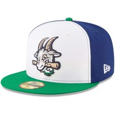 Hartford Yard Goats New Era Alternate 2 Authentic Collection On-Field 59FIFTY Fitted Hat - White