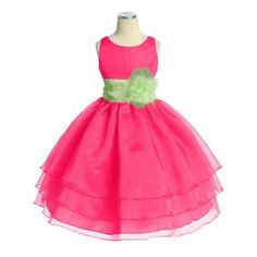 three-layer-organza-fuchsia-cupcake-flower-girl-dresses-discount-cheap-toddler-flower-girl-dress.jpg 350×350 pixels
