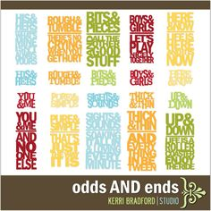odds AND ends. 10.00