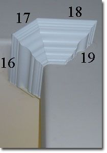 Corner Cuts on Crown Moulding Cut Crown Molding, Wood Molding, Molding Ideas, Trim Carpentry, House Trim, Painting Shelves, Painting Doors, Interior Painting, Painting Tips