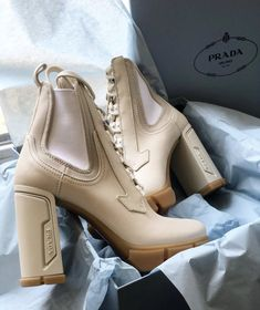 "𝓜. on Twitter: ""PRADA BOOTS.… "" Sneakers Fashion, Fashion Shoes, Shoes Sneakers, Shoes Heels, Cute Shoes, Me Too Shoes, Heeled Boots, Shoe Boots, Aesthetic Shoes"