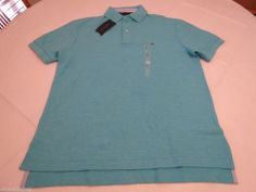 Men's Tommy Hilfiger Polo shirt NWT S solid NEW 7845163 Sea Heather 474 aqua #TommyHilfiger #polo