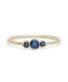 "Inspiration for your wedding's ""something blue"" from Pinterest: sapphire ring"