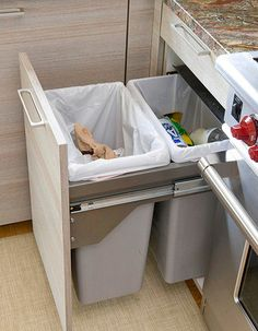 Get the most out of the cupboard space with a larger bin, Top 12 storage solutions for your kitchen
