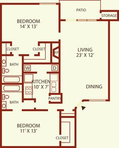 1 & 2 Bedroom Apartment Floor Plans in Colorado Springs, CO | Mountain View Apartment Homes