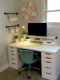 Arbeitszimmer Schreibtische, Schlafzimmer Ideen, Kinderzimmer, Schlafzimmer  Schreibtisch, Ikea Büro, Zimmer Einrichten
