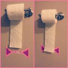 Niet te veel toiletpapier!
