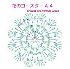 花のコースターA-4【かぎ針編み】編み図・字幕解説 Crochet Flower Coaster / Crochet and Knitting Japan https://youtu.be/y5Xw6bzYOuQ 鎖編み、細編み、長編み、玉編み、引き抜き編みで作る、花のコースターです。 長編み5目の12枚の花弁を編んで、糸始末は、とじ針で仕上げます。 プレゼントにも!! ◆編み図はこちらをご覧ください。