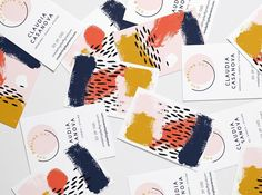 Playing with brushwork for these playful business cards for @casanovadarling ✨