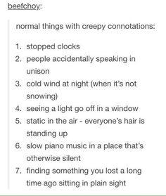 Writing tips - horror