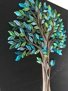 Dieses schöne und einzigartige Frühling Baum Kunstwerk erfolgt durch Kleben 1/4 Zoll-Karte-Lager-Papier-Streifen, schwarze Leinwand-Panel in einem Design. Die Leinwand ist erst mit schwarz bemalt und dann ist der blühende Baum durch Kleben 1/4 Zoll-Karte-Papierstreifen in einem Design aus. Es ist dann für eine starke Bindung versiegelt. Das Kunstwerk ist auf eine 11 x 14 Leinwand-Panel. Es ist bereit, in 11 x 14 Shadow Box Rahmen oder einem tiefen Rahmen gerahmt werden oder kann in ...