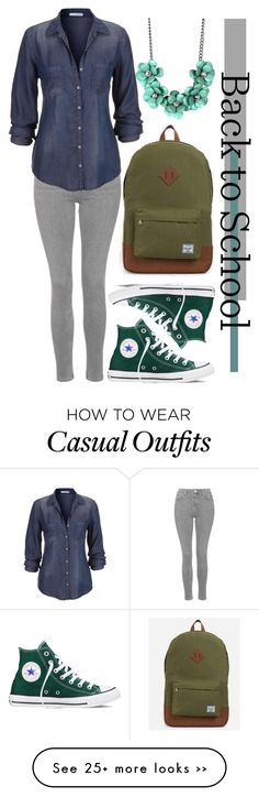 """Back to School- Casual"" by ninjacat123 on Polyvore"