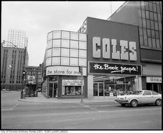 Vintage Signs Toronto COLES MY BOOK STORE.  Southeast corner of Yonge & Dundas, 1970s