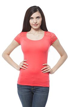 Cap sleeve top with lace contrast on the back (Small, Red) Hollywood Star Fashion http://www.amazon.com/dp/B00SSXCKPY/ref=cm_sw_r_pi_dp_ZMyvwb1B70ZVA