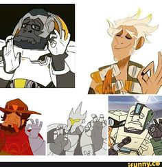 overwatch, winston, junkrat, mccree, justright