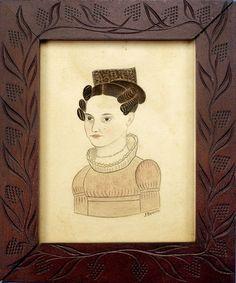 Early 1800's Folk Art Miniature