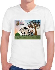 Bir One - Vegan - Kendin Tasarla - Erkek V Yaka Tişört