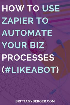 Business and management infographic & data visualisation How to Use Zapier to Automate Your Biz Processes - One annoying part of growing . Home Based Business, Business Tips, Online Business, Business Design, Business Management, Management Tips, Productivity Apps, Harvard Business School, Business Marketing