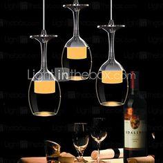 sl® modern / tradicionális / classic / ország / tál vezetett króm üvegcsillárokkal / függesztett lámpák - USD $49.99