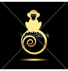 Monkey logo vector image on VectorStock Art Courses, Black Orchid, Logo Google, Animal Tattoos, Black Backgrounds, Adobe Illustrator, Monkey, Have Fun, Logo Design