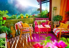 Balcony With Lots of Flowers jigsaw puzzle in Puzzle of the Day puzzles on TheJigsawPuzzles.com