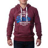"""Ανδρική Μπλούζα Hoodie """"Super Dry """" Merchants - Μπορντώ #www.pinterest.com/brands4all"""