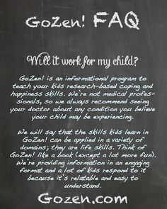 Interested? See our program at http://www.gozen.com/ or read the rest of the FAQ here: http://www.gozen.com/faq/ #anxiety #counseling