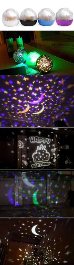 Romantic Rotating Magic Ball Star Projector
