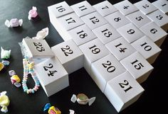 DIY Advent Calendar printable PDF pattern. $5.00, via Etsy.