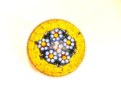 1950s Vintage ITALY signed Micro Mosaic Brooch  by RAKcreations