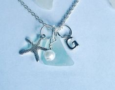 Personalized Sea Glass Necklace with StarfishSea Glass Secrets ...