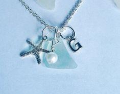 Personalized Sea Glass Necklace with StarfishSea Glass Secrets ...