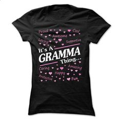 Its a GRAMMA, thing... - #shirt #music t shirts. PURCHASE NOW => https://www.sunfrog.com/LifeStyle/Its-a-GRAMMA-thing-7502-Black-13792600-Ladies.html?60505