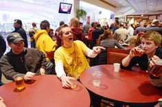 Should the University of Minnesota sell alcohol at Mariucci and Williams arenas, too? U officials are hesitant: story by Jessica Lee, photo by Amanda Snyder